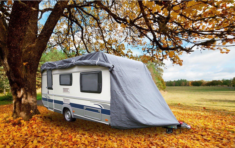 Greenyard Abdeckplane Für Wohnwagen Oder Wohnmobile Größe L 610 X 250 X 220 Cm Elektronik