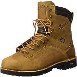 "Danner Men's Quarry USA 8"" Distressed Brown Work Boot"