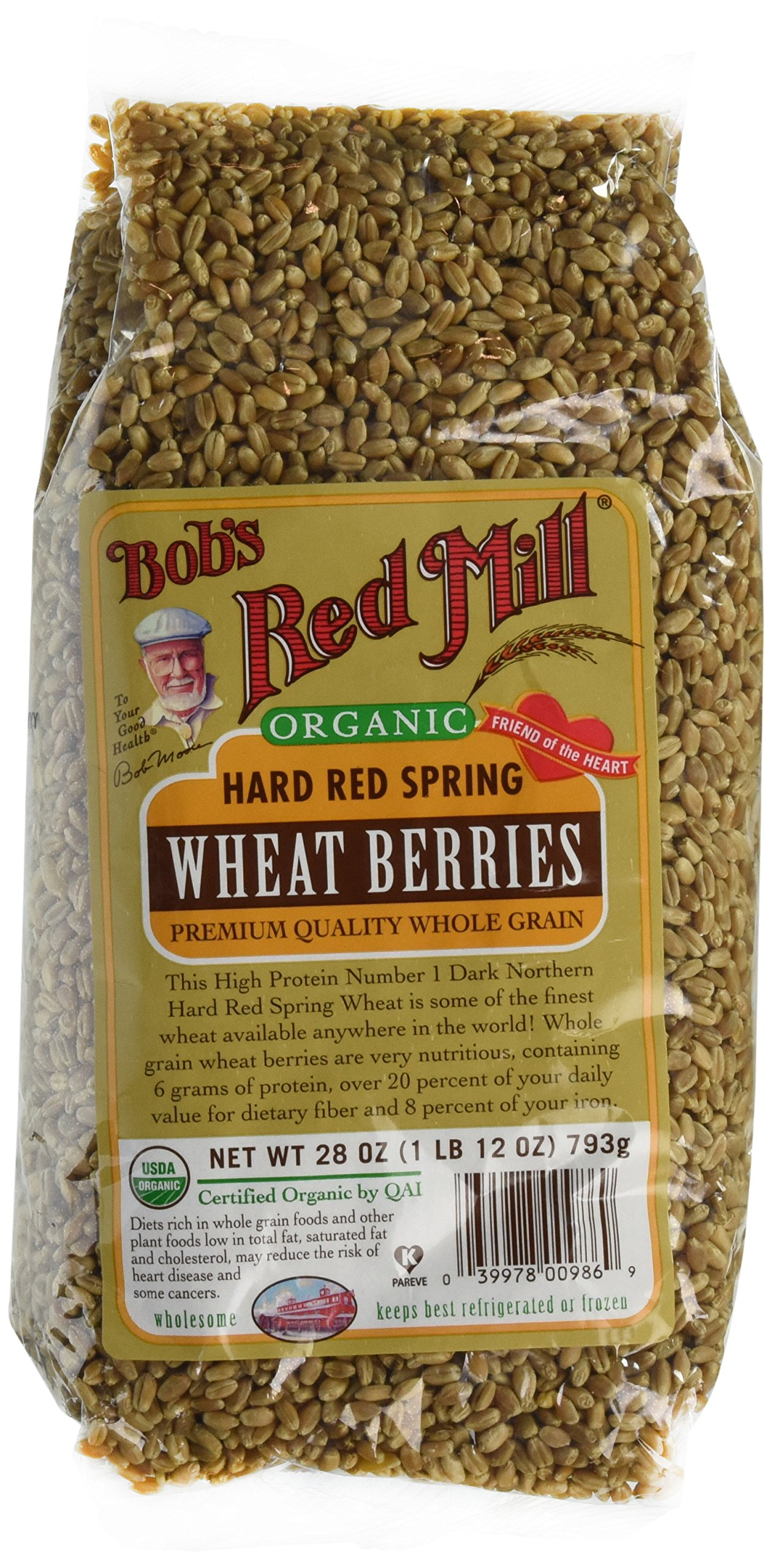 Bob's Red Mill Wheat Hard Red Spring Wheat Berries 28 oz