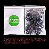 ANJUU 36 Pack 38mm Inner Diameter Metal Curtain