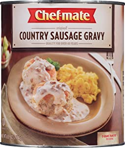 Chef-mate Original Country Sausage Gravy, Breakfast Sausage, Biscuits and Gravy, 6 lb 9 oz, #10 Can