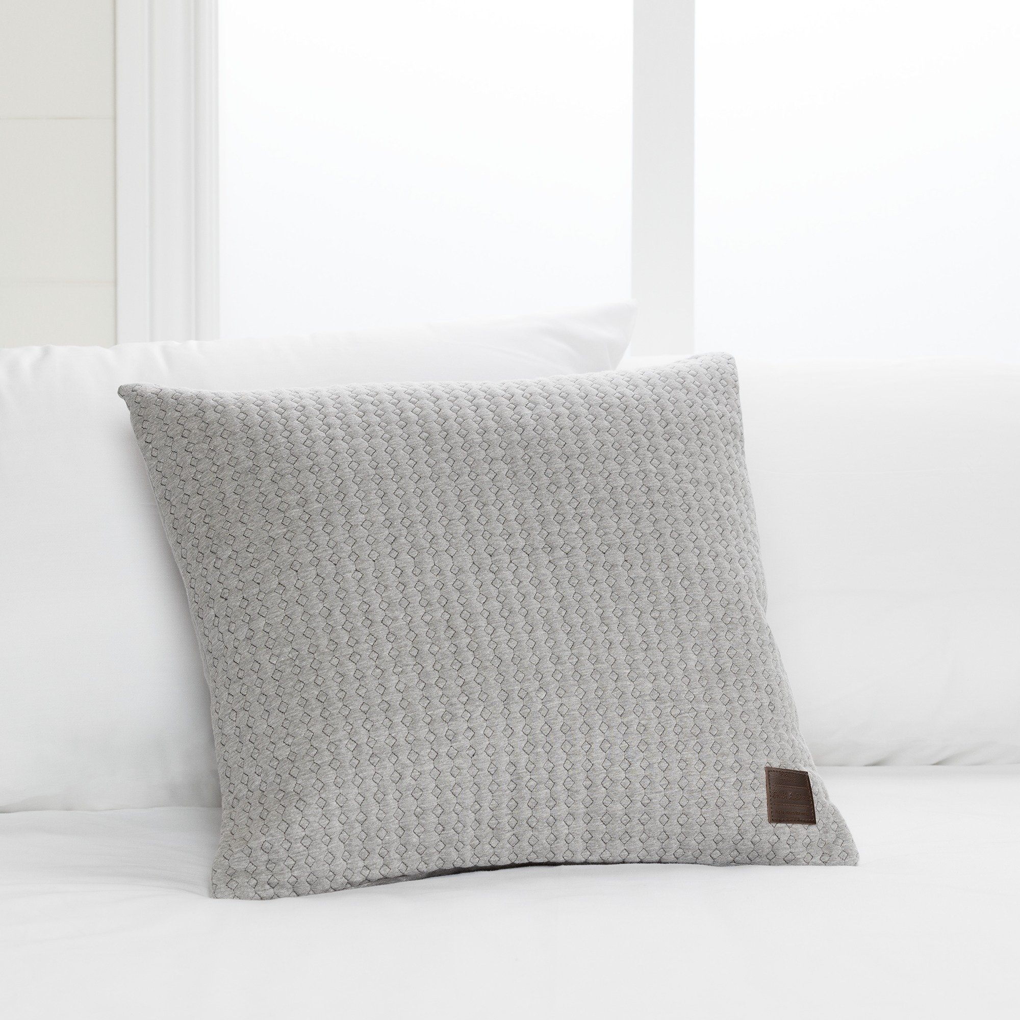 South Shore Lodge Decorative Quilted Throw Pillow 18'' L x 18'' W, Gray