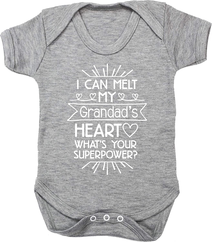 Whats Your Superpower? Baby Vest Bodysuit Hippowarehouse I can melt My Grandads Heart Short Sleeve Boys Girls
