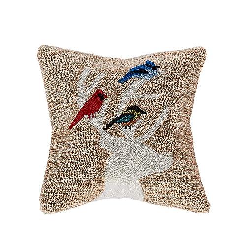 Pillow Perfect 568287 Outdoor Indoor Ring a Bell Navy Lumbar Pillows, 11.5 x 18.5 , Blue