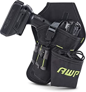 AWP Drill Holster | Angled to sit on belt in order to hold weight evenly
