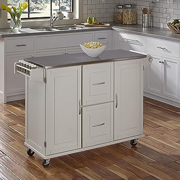Home Styles 4514 95 Patriot Kitchen Cart, White