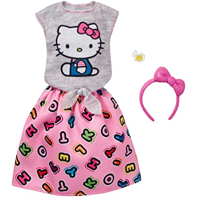 Barbie Fashions Hello Kitty Gray Top & Pink Skirt: Toys & Games