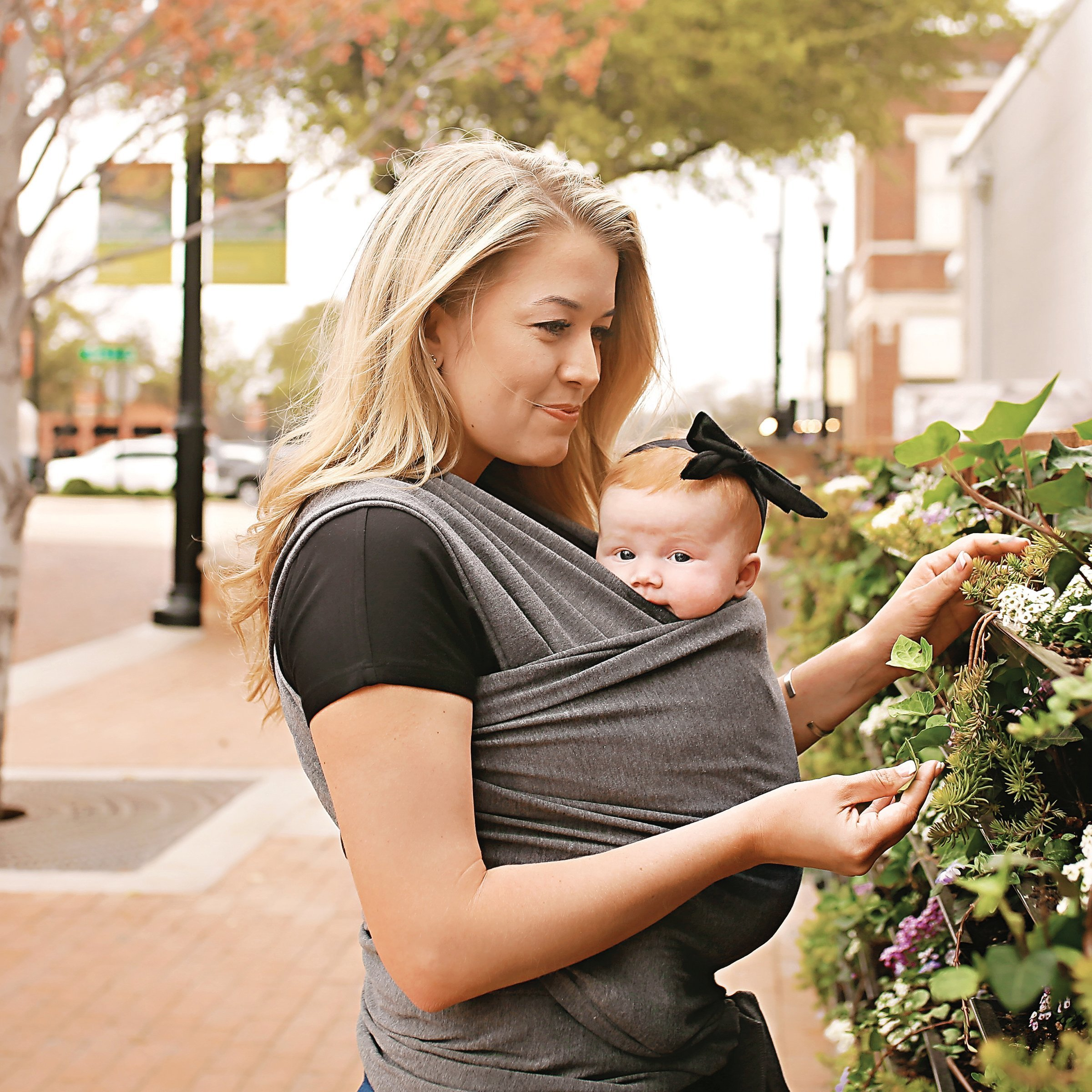 4 In 1 Baby Wrap Carrier And Ring Sling By Kids N Such Charcoal