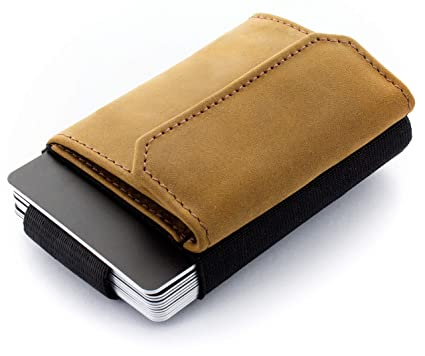 1db482bbac6c22 JAIMIE JACOBS Portefeuille Homme Nano Boy Pocket Portefeuilles Minimaliste  Porte-Monnaie Fin Mini Wallet Porte-Carte Pince à Billets (Bronzage)