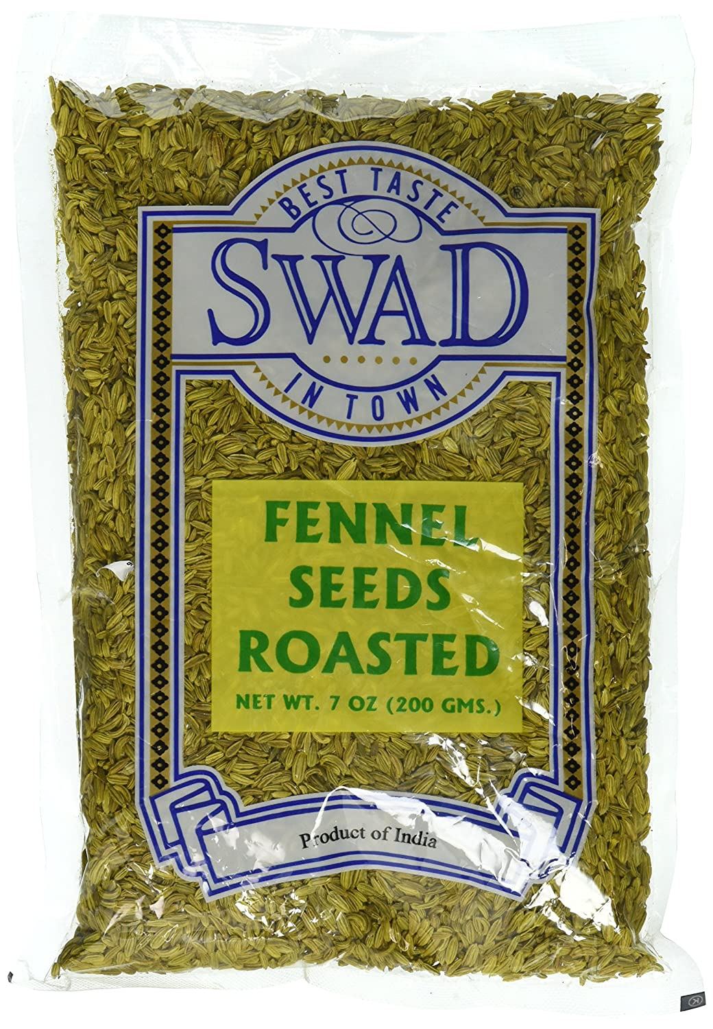 Great Bazaar Swad Roast Fennel Seeds, 7 Ounce