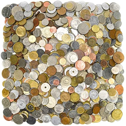5lb CIRCULATED World FORIEGN Coins,Heavier,Larger,Older,A Mix of Old and  New!World Coin Collection Set NO Tokens