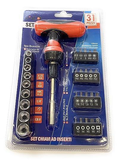 Juego de llaves de puntas - 31 piezas - destornillador de trinquete ...