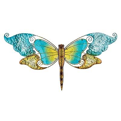 """Regal Art & Gift 11668 Dragonfly Wall Decor 28""""-Blue Metal WallArt : Garden & Outdoor"""