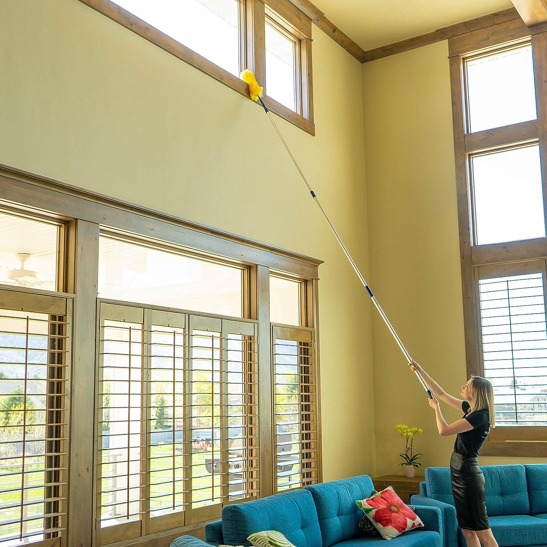 Amazon.com: High Ceiling Cobweb Duster and Pole | Ceiling Fan ...