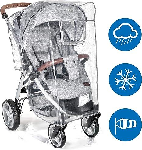 f/ácil montaje en cualquier cochecito Protector de lluvia universal para silla de paseo ventana de contacto buena circulaci/ón del aire sin PVC