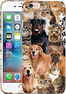 Glisten iPhone 6 Case, iPhone 6S Case - Cat Dog Collage Design Printed Slim Profile Cute Plastic Hard Snap on Protective Designer Back iPhone 6 Case/iPhone 6S Case