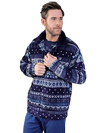 MASSANA - Bata Corta Hombre Invierno Azul, M: Amazon.es: Ropa y accesorios