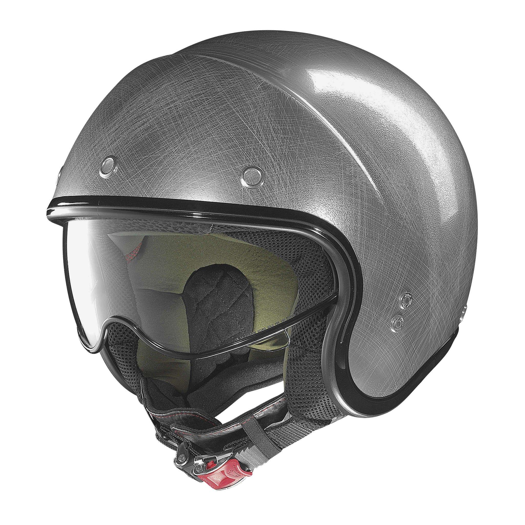 Nolan N21 Durango Scratched Chrome Open Face Helmet, M by Nolan