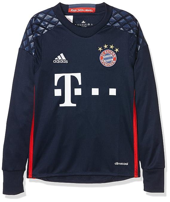Adidas FCB H GK JSY Y Camiseta 1º Equipación del Bayern FC, niño, Azul/Rojo, 15-16 años: Amazon.es: Deportes y aire libre