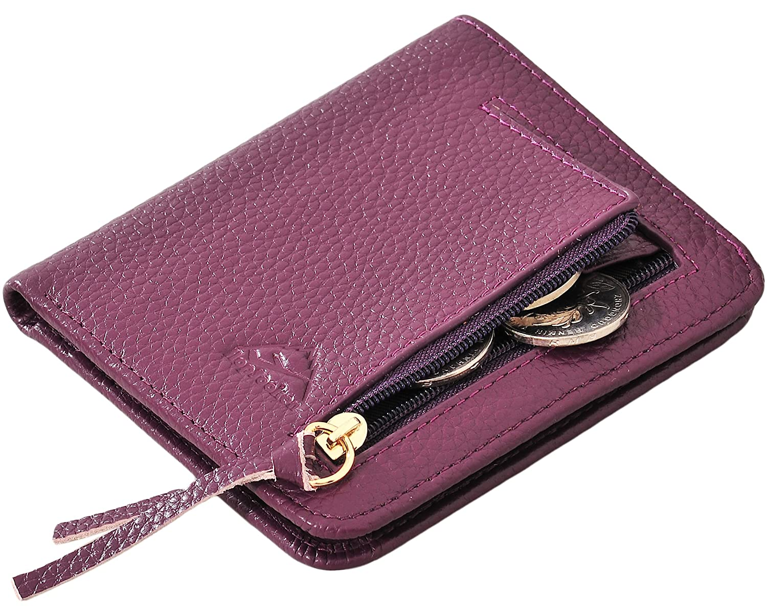 Hopsooken Womens Small Compact Bifold Card Wallet RFID Credit Card Holder Case