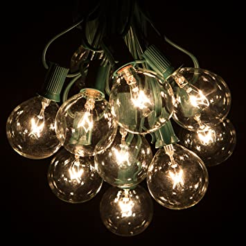 Amazon 50 foot g50 patio globe string lights with 2 inch clear 50 foot g50 patio globe string lights with 2 inch clear bulbs for outdoor string lighting audiocablefo