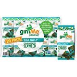 gimMe Organic Roasted Seaweed Sheets - Sea Salt - 20 Count - Keto, Vegan, Gluten Free - Great Source of Iodine and Omega 3's