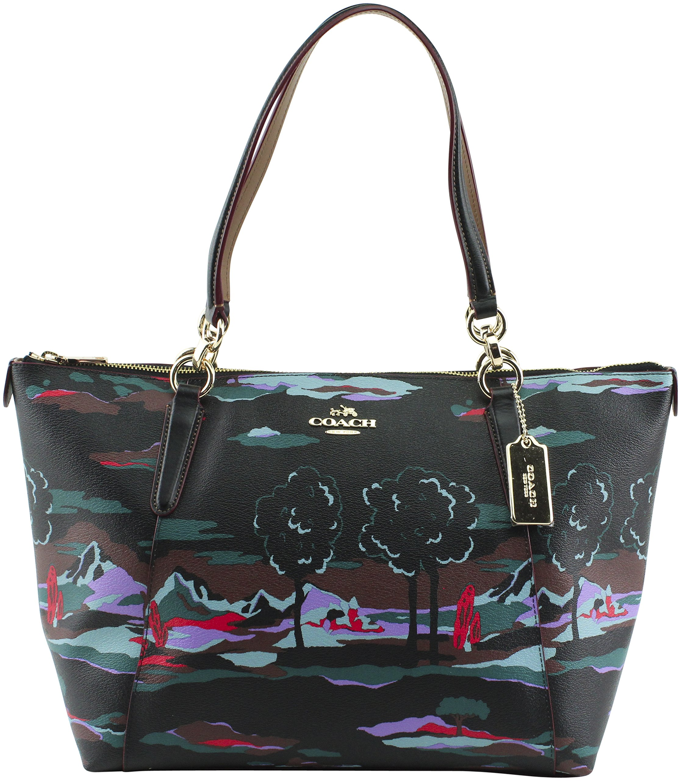 Coach Women's Landscape Print Coated Canvas Ava Tote, Style F11901, IM Black Multi by Coach
