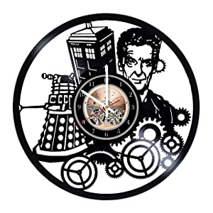 Doctor Who Record Clock, Daleks Wall Decor, The Doctor Handmade Home Decor, Cybermen Vinyl Wall Clock, Gifts for woman