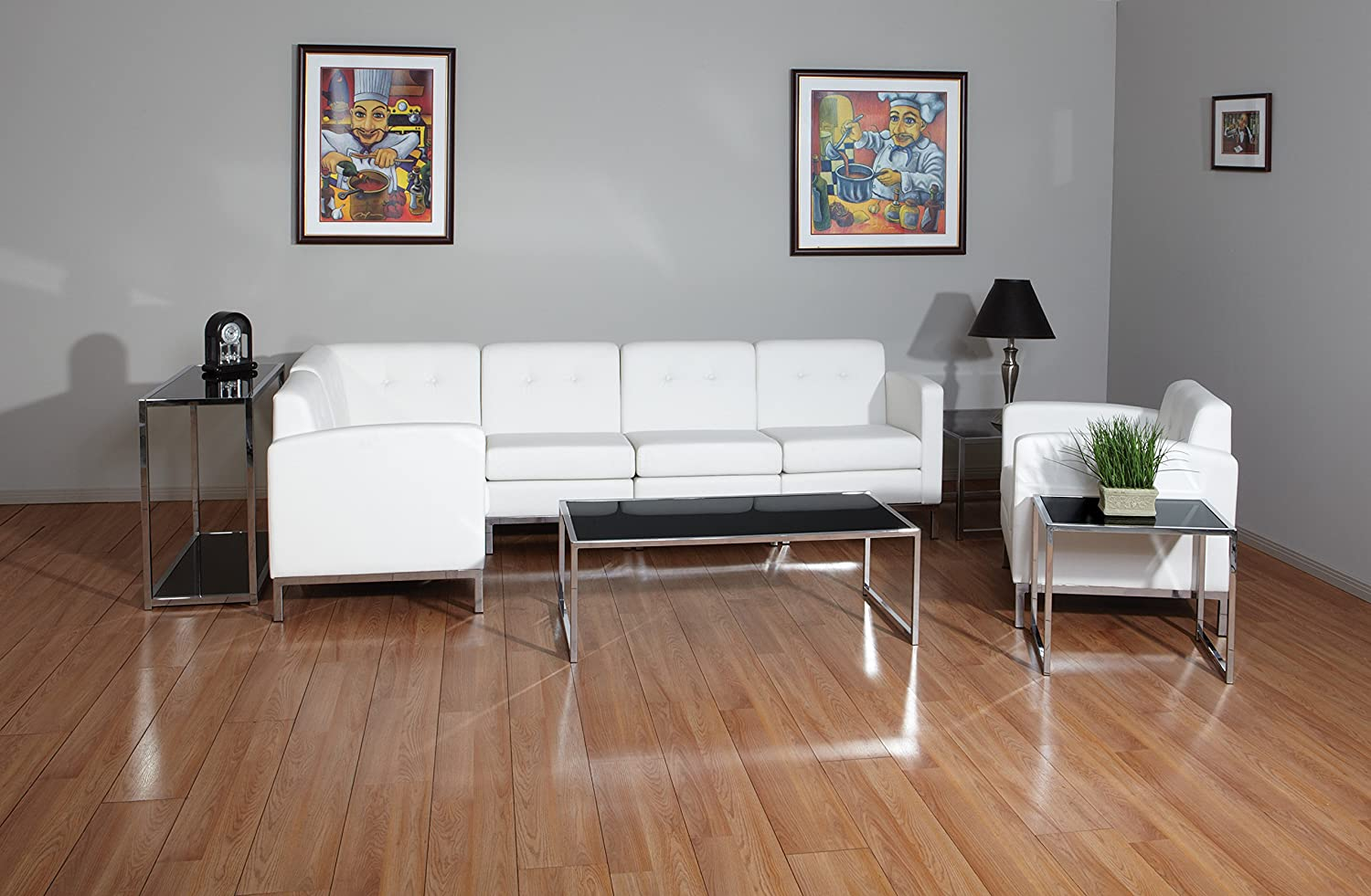 Amazon ave six wall street faux leather armchair with chrome amazon ave six wall street faux leather armchair with chrome finish base white kitchen dining geotapseo Choice Image
