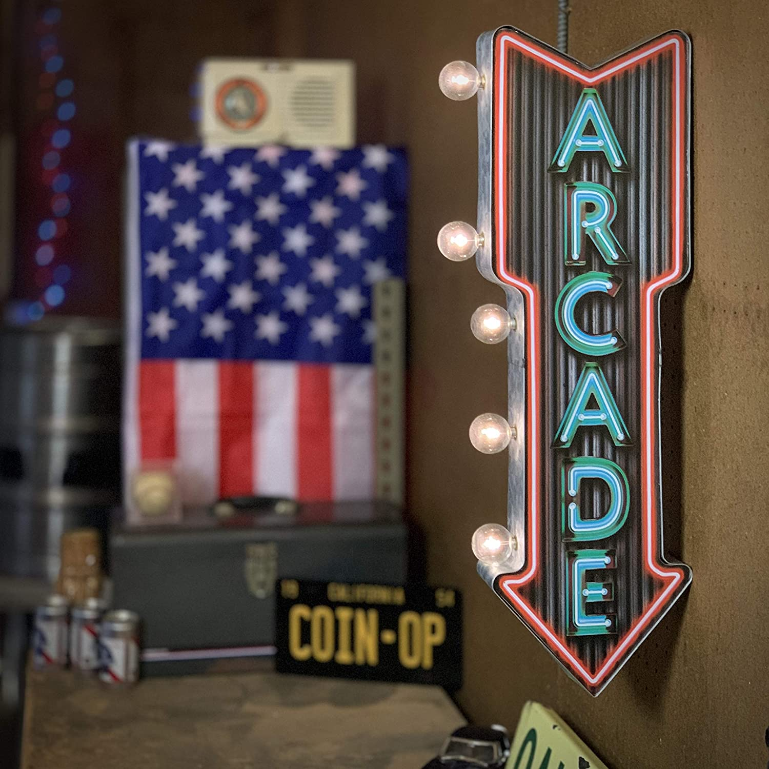 HO-SCALE VERTICAL THEATER MARQUEE ANIMATED LIGHTED NEON SIGN-DOUBLE SIDED!