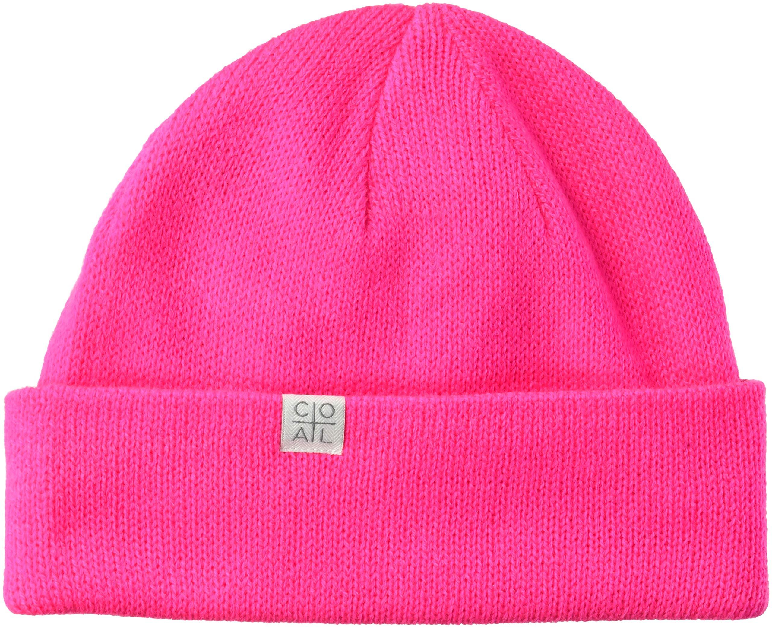 Coal Men's The FLT Fine Knit Beanie Hat, neon Pink, Slouchy/Low Profile