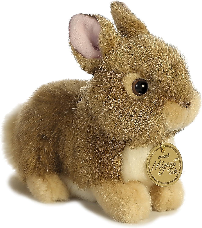 Aurora World Miyoni Baby Bunny Plush, Tan - 26256