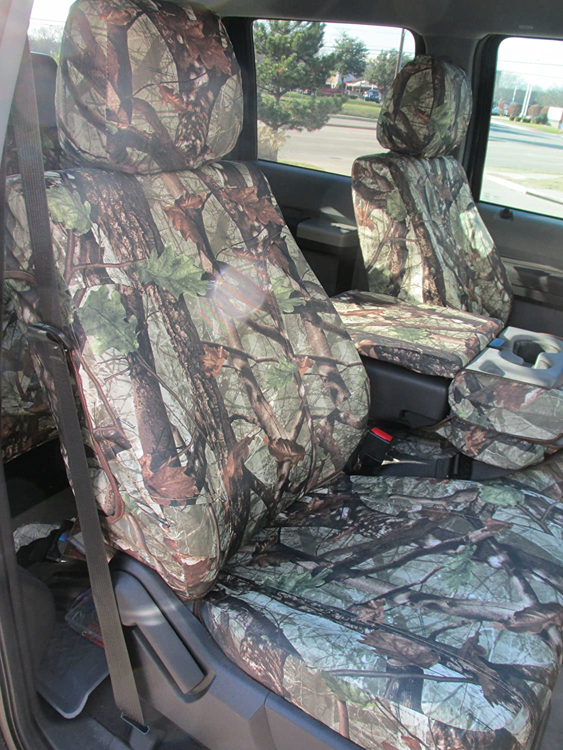 Amazon com durafit seat covers f486 ds1 camo 2014 ford f150 2015 f250 f550 xlt and lariat 40 20 40 split seat with opening center console in ds1 camo