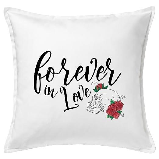 Love con rosas bordadas inoxidable Cojín Amor almohada ...