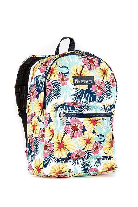 Everest Kids' Basic Pattern Backpack, Tropical