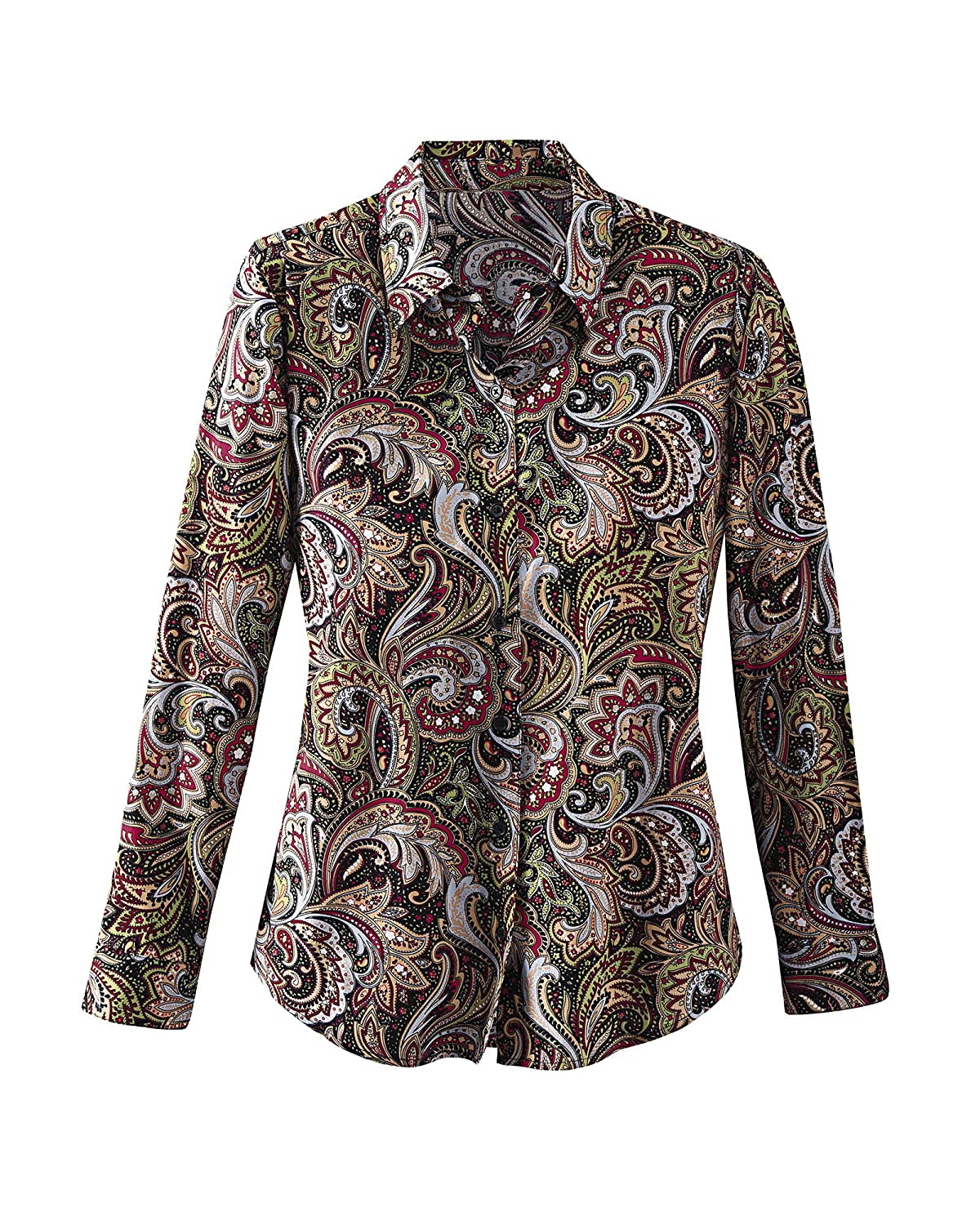 a6a604292af National Paisley Print Shirt at Amazon Women s Clothing store