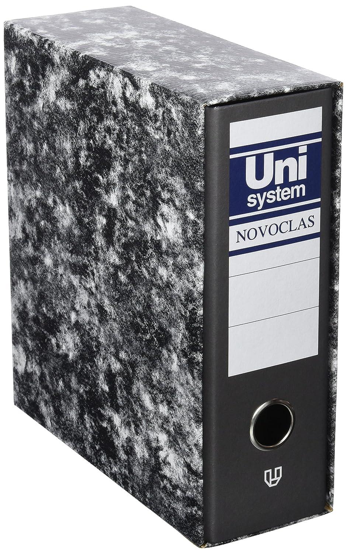 Archivador Novoclas jaspeado, color negro: Amazon.es: Oficina y papelería
