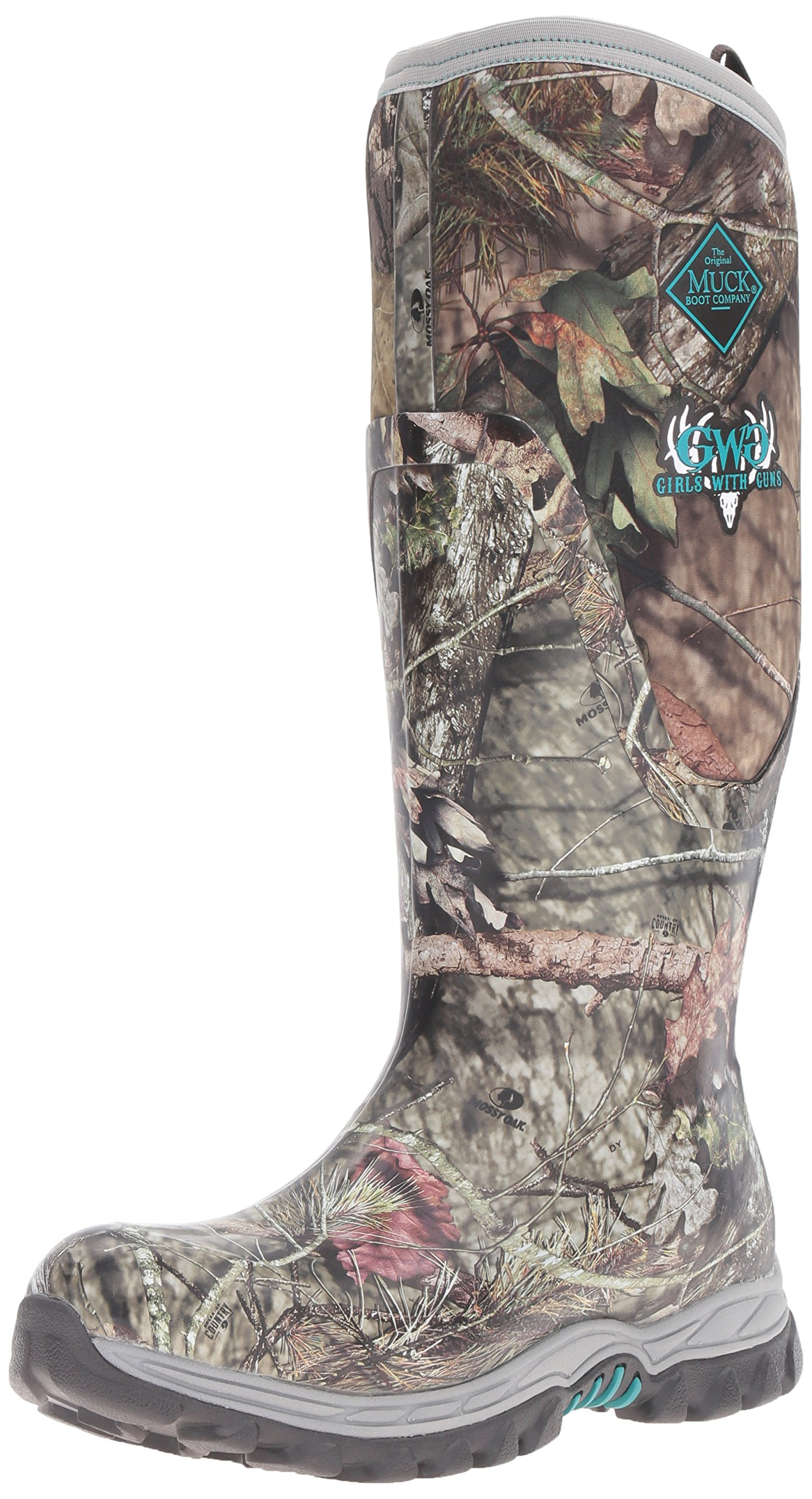 Muck Boot Women's Gwg Arctic Hunter Tall Snow Boot, Bark/Mossy Oak Country, 9 M US