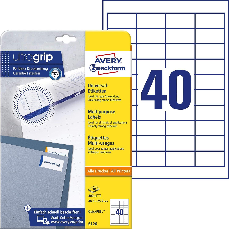 4725 Plus 945 5,4 X 10 Mm 30 Blatt NEU Avery Zweckform L4731REV-25 Etiketten A4