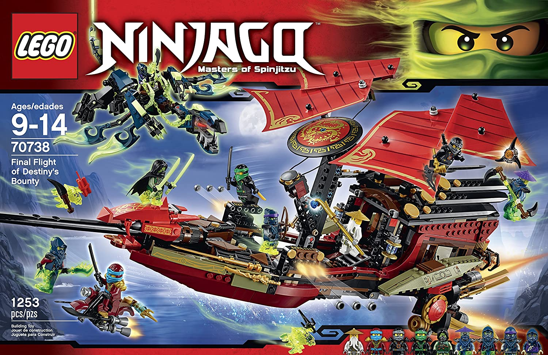 LEGO Ninjago 70738 Final Flight of Destinys Bounty Building ...