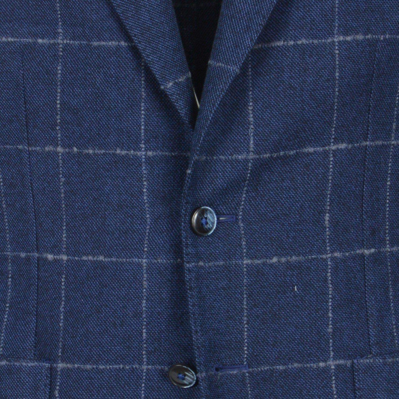 L.B.M. 1911 Uomo Giacca Blazer Blu Quadri Check Slim 65025