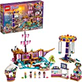 LEGO Friends Heartlake City Amusement Pier 41375 Toy Rollercoaster Building Kit with Mini Dolls and Toy Dolphin, Build and Pl