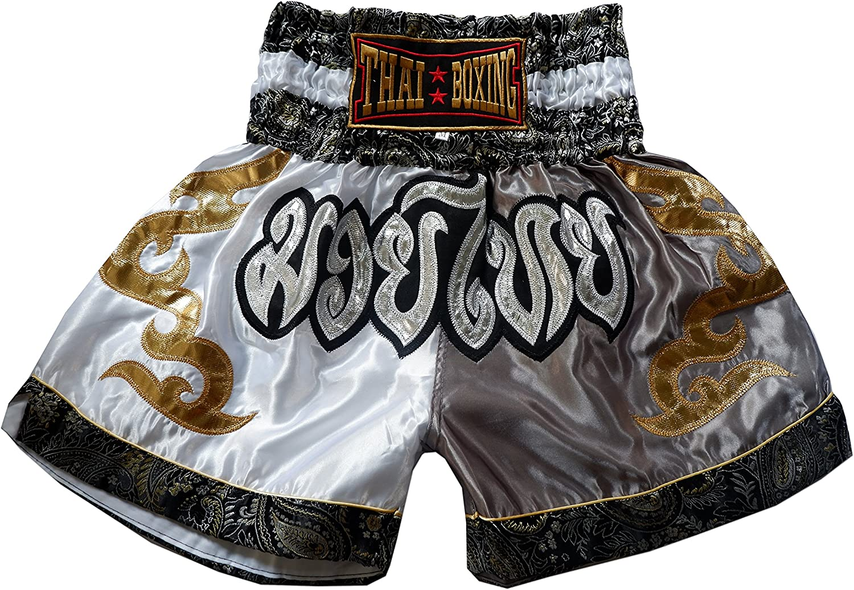 Nakarad Short Muay Thai Argent Taille S