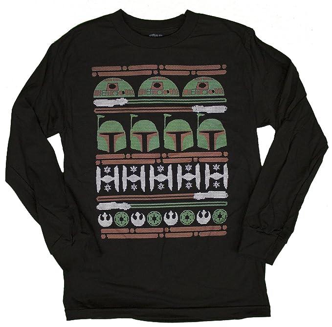mens disney star wars epic ugly sweater long sleeve christmas shirt small