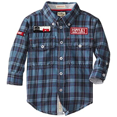 Hatley Little Boys' Farmer Jack Button-Front Shirt