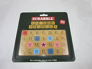 Scrabble imanes de nevera – 100 – imanes magnéticos para la nevera azulejos: Amazon.es: Hogar