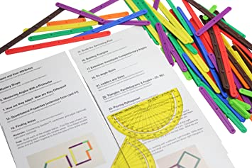 com geometry snap together sticks compass and  geometry snap together sticks compass and activity guides common core math manipulative hands