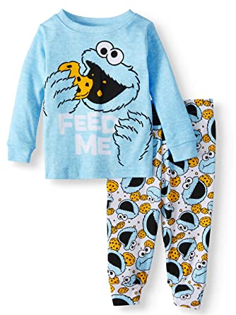 7b534339d Amazon.com  Sesame Street Cookie Monster Feed Me 2 Piece Baby Boys ...