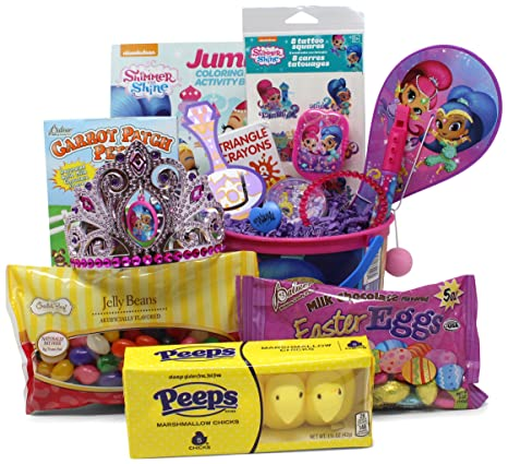 Amazon shimmer and shine easter basket great for little boys shimmer and shine easter basket great for little boys and girls pre filled with negle Gallery