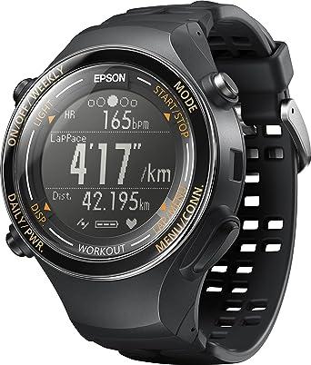 89e28430f3 Amazon.co.jp: [エプソン リスタブルジーピーエス]EPSON Wristable GPS 腕時計 GPS機能 ランニング SF-850PJ:  腕時計